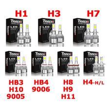 2 Pcs Car LED Bianco Fari H1 H3 H4 H7 9005/HB3/H10 9006/HB4 H8/ h9/H11 HA CONDOTTO LA Lampada Impermeabile Fari HID H4-H/L