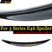 E46 Tail Rear Trunk Spoiler Lip Wing Ride style Carbon For BMW 318i 320i 325i 328i 330 330xi 2Door 1996-04
