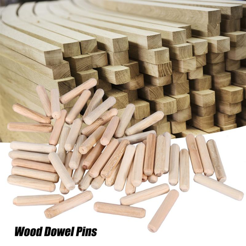 WOODEN DOWEL FLUTED PINS M8 8MM X 40MM pack of 20