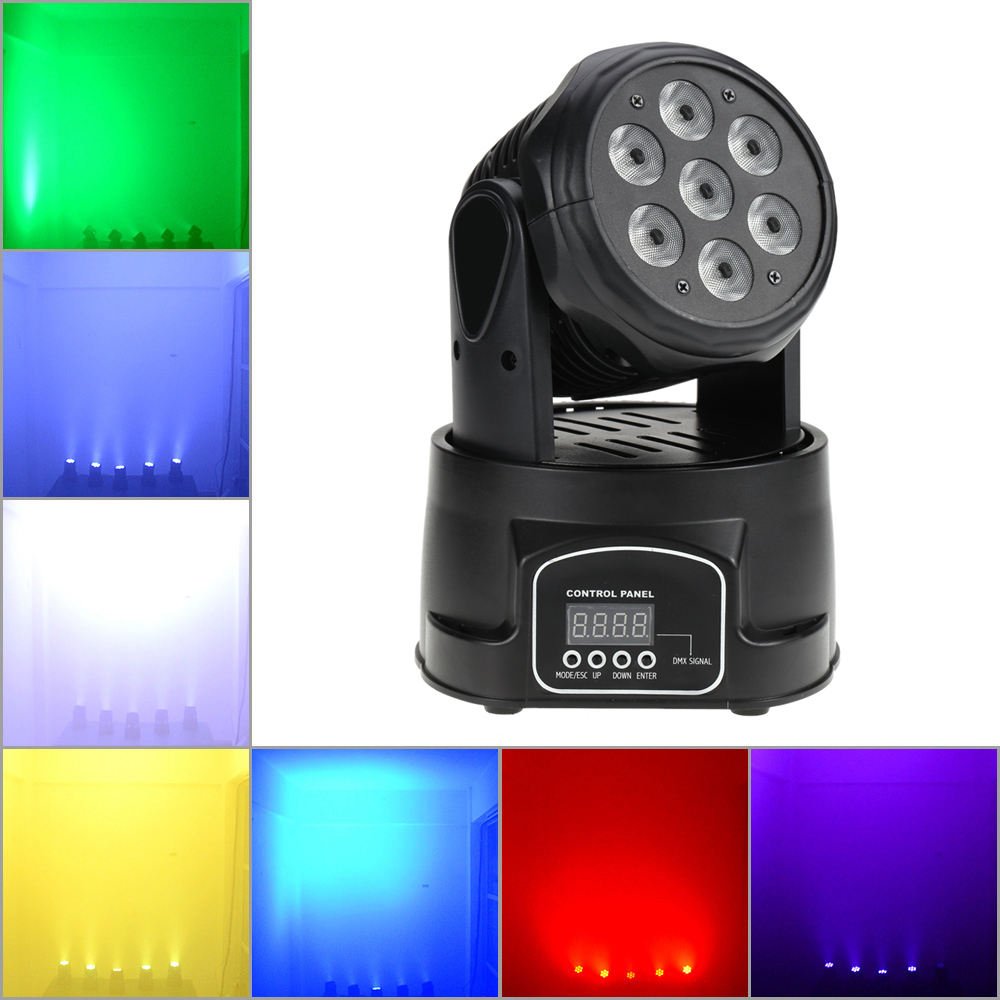9 14 Channel Disco Stage Party Lighting 70W 7LEDs RGBW 4 in 1 LED Stage Effect
