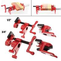 1/2 3/4 Inch Heavy Duty Gluing Pipe Clamp Woodworking Glue Pipe Wood Clamps Woodworking Clamp Fixture Carpenter Tools