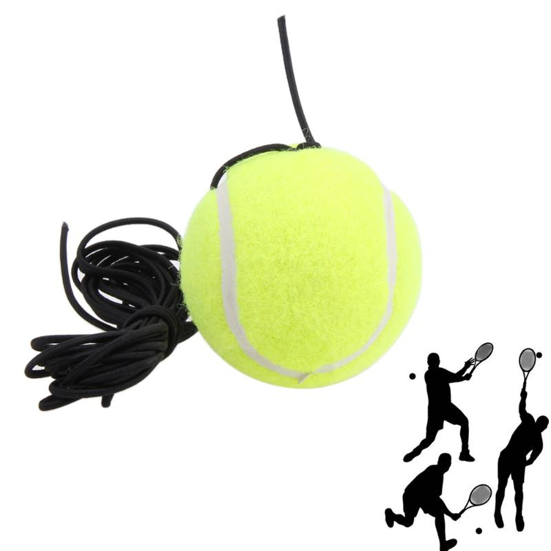 1pc Blue Plastic Racket Ball Trainer Single Tennis Practice Base Elastic Tennis Exercise Training Device Tennis Accesories