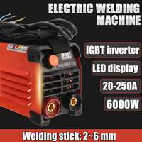 220V 10A/20A 200A/250A Handheld Electric Welding Inverter ARC Welding Machine Tool Mini MMA IGBT Inverter for Welders Working