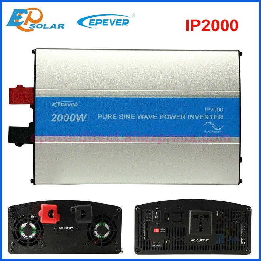 EPever 2000 Вт Чистая синусоида Инвертор 24 В/48 В вход 110VAC 120VAC 220VAC 230VAC выход 50 Гц 60 высокая эффективный преобразователь IPower