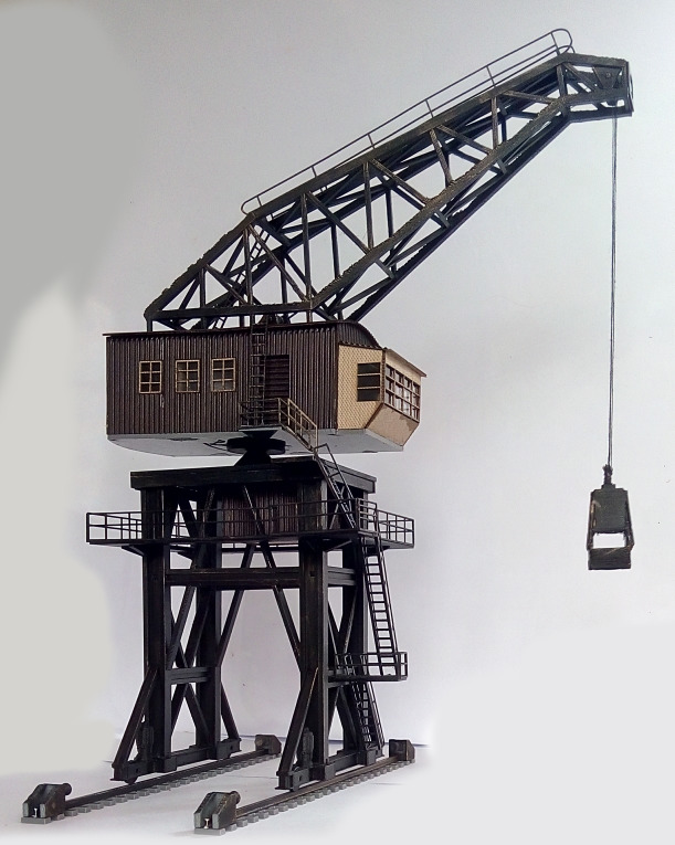 1/87 Train Modèle D'assemblage de BRICOLAGE Kit T24A Lourd De Levage Grue à Tour Table de Sable Modèle de Construction En Plastique Jouets Pour Enfants