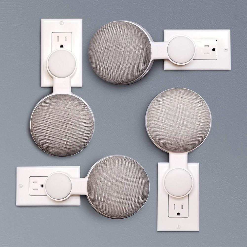 Image 3 - Для Google HomeMini голос помощник Outlet настенный держатель шнур управление кронштейн Plug In кухня спальня Высокое качество Новый-in Аксессуары для аудиосистем from Бытовая электроника