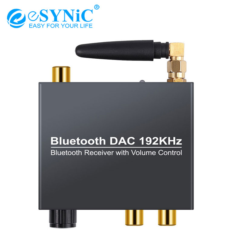 eSYNiC 192kHz 5.0 Bluetooth DAC Converter With USB Power+Wireless Receiver <font><b>Cable</b></font> Transmitter DAC <font><b>Audio</b></font> <font><b>Optical</b></font> To RCA <font><b>3.5mm</b></font> image