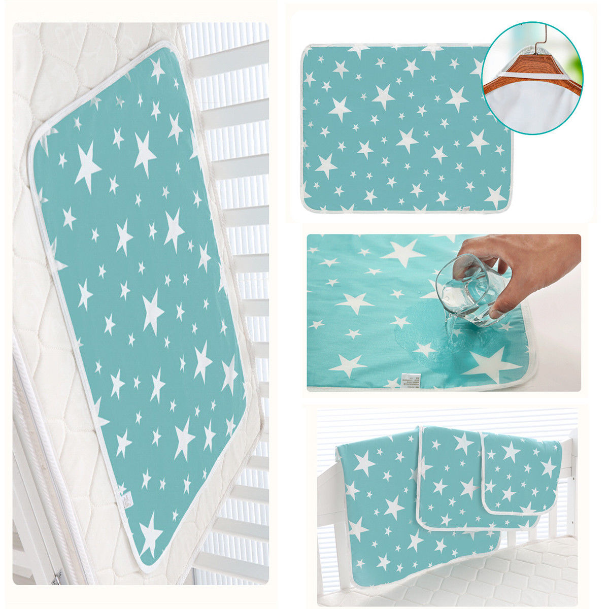 Washable Newborn Baby Mattress Breathable Supplies Waterproof Crib Sheet Urine Supply Mattresses