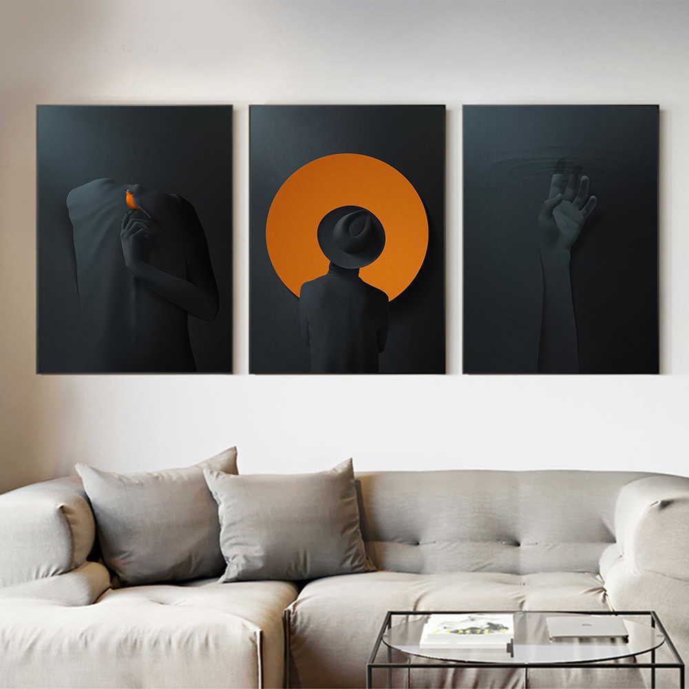 Abstract Figure Modern Painting Posters and Prints Print on Canvas Wall Art Picture for Living Room Home Decor No Frame