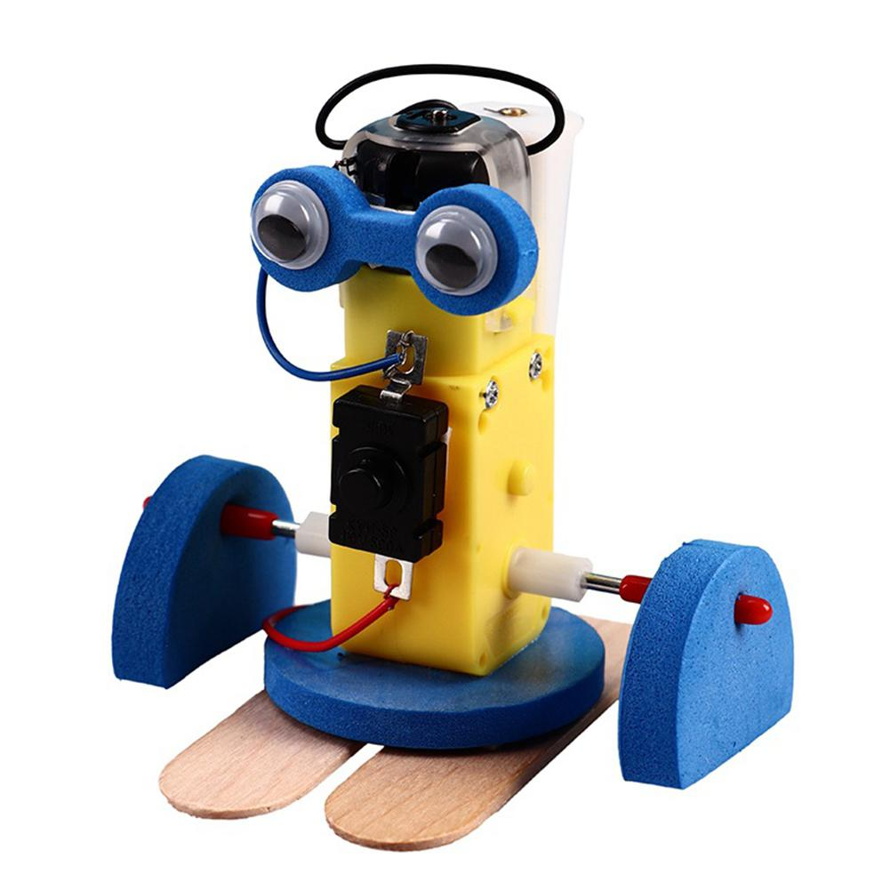Mini DIY Assembly Ming Crawling Robot Kit Science Technology Toy