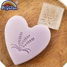 Лаванда ручной работы мыло штамп трава печать мыло Плесень Z0076YZ