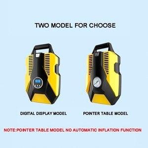 Image 5 - شاشة ديجيتال السيارات ضاغط هواء للسيارة 12 فولت/220 فولت مضخة صغيرة قابلة للنفخ منفاخ إطارات السيارات للدراجات النارية السيارات
