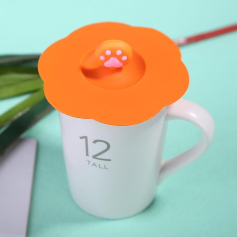 Silicone Cup Lid Drink Cup Cover Anti dust Coffee Mug Suction Seal Tool Re
