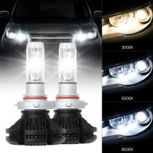 2 Pcs Car Head Light Bulbs 360 Degree LED IP67 Waterproof Professional Car Lights 25W H1 H3 H11 H8 H9 H4 9005 9006 LED(China)