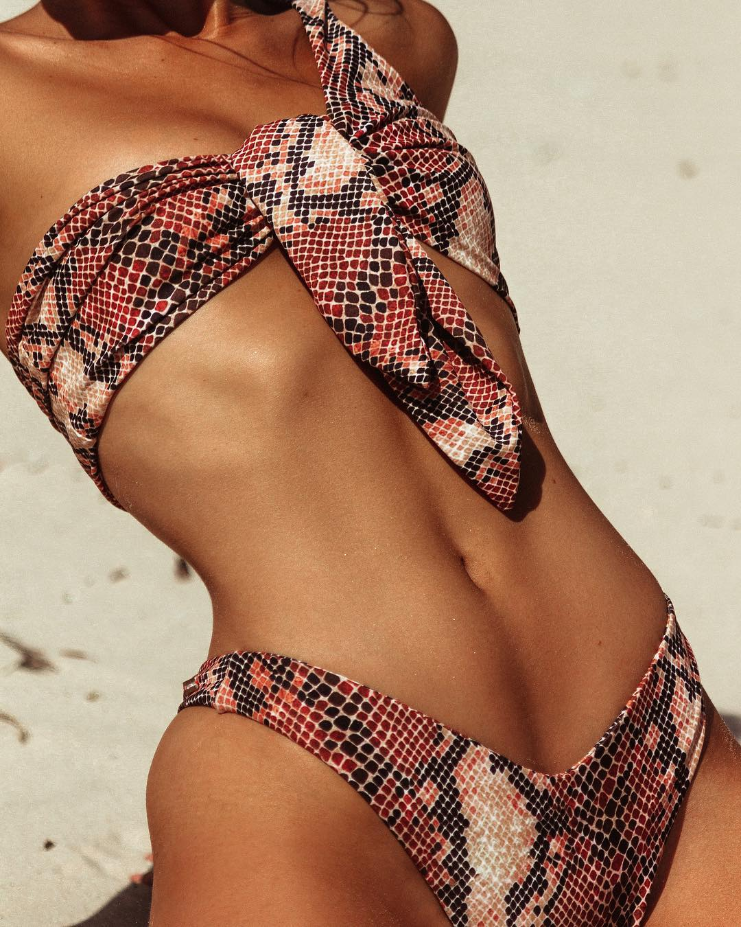 Women Snakeskin Off-Shoulder Two-piece Swimsuit  Lady Girls Beach Bikini Set Push-Up Padded Bra Swimsuit Swimwear Bow BiquiniWomen Snakeskin Off-Shoulder Two-piece Swimsuit  Lady Girls Beach Bikini Set Push-Up Padded Bra Swimsuit Swimwear Bow Biquini