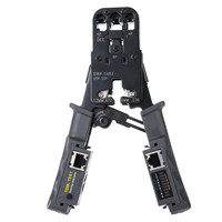 2 in 1 RJ45 Network LAN Cable Crimper Pliers Cutting Tool Cable Tester Cable Pliers 6P/8P Wire Cutter Tool Test Crimping Pliers