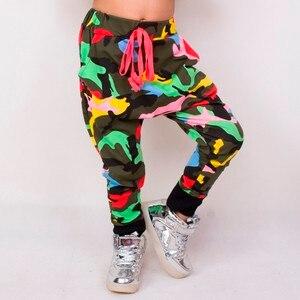 Image 2 - Heroprose Neue kinder 2018 Frühling Sommer Hip Hop Dance Harem camouflage Freizeit Sport kinder Jungen Großen Schritt Dünne Hosen