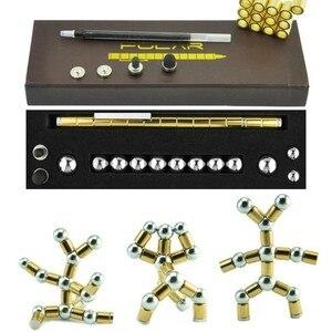 Высокое качество фокусировка модульная Волшебная Магнитная DIY емкость Шариковая Ручка Tri-Spinner полностью металлический инструмент для кубик...