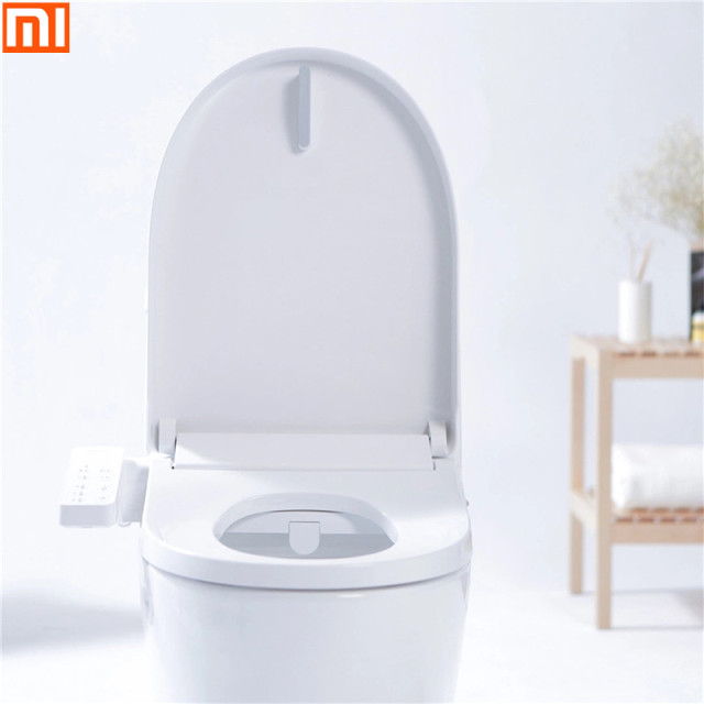 Xiaomi Tinymu Home Smart Anti Bacteria Toilet Seat Cn Plug Remote Control 3 Grade Adjustable Heatable Seat For Bathroom Toilet Home Appliance Parts Air Purifier Parts
