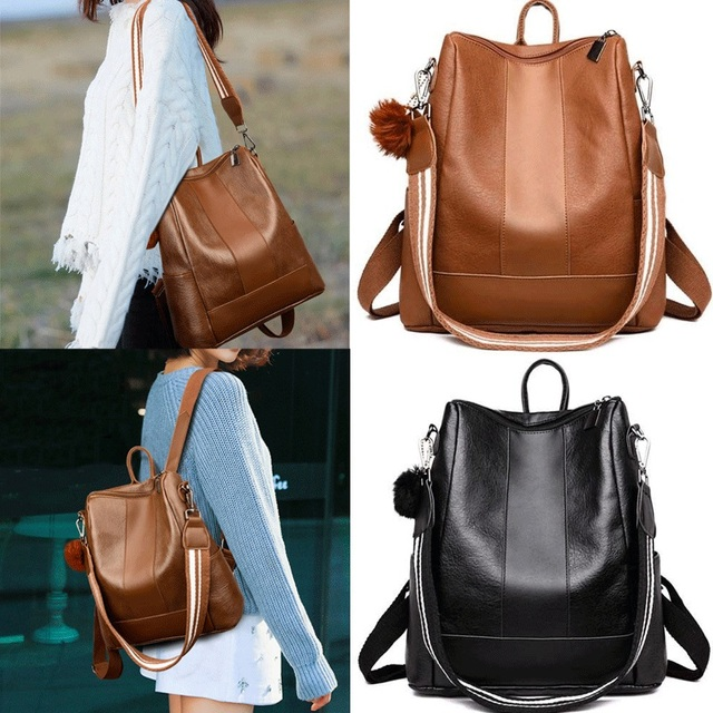 2019 HOT Fashion Women Backpack High Quality PU Leather Backpacks for Teenage Girls Female School Shoulder Bag Bagpack mochila