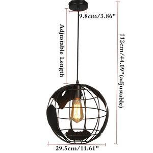 Image 3 - Lámpara de techo negra y creativa para loft continental, estilo retro, moderna lámpara de techo metálica informal para café o salón