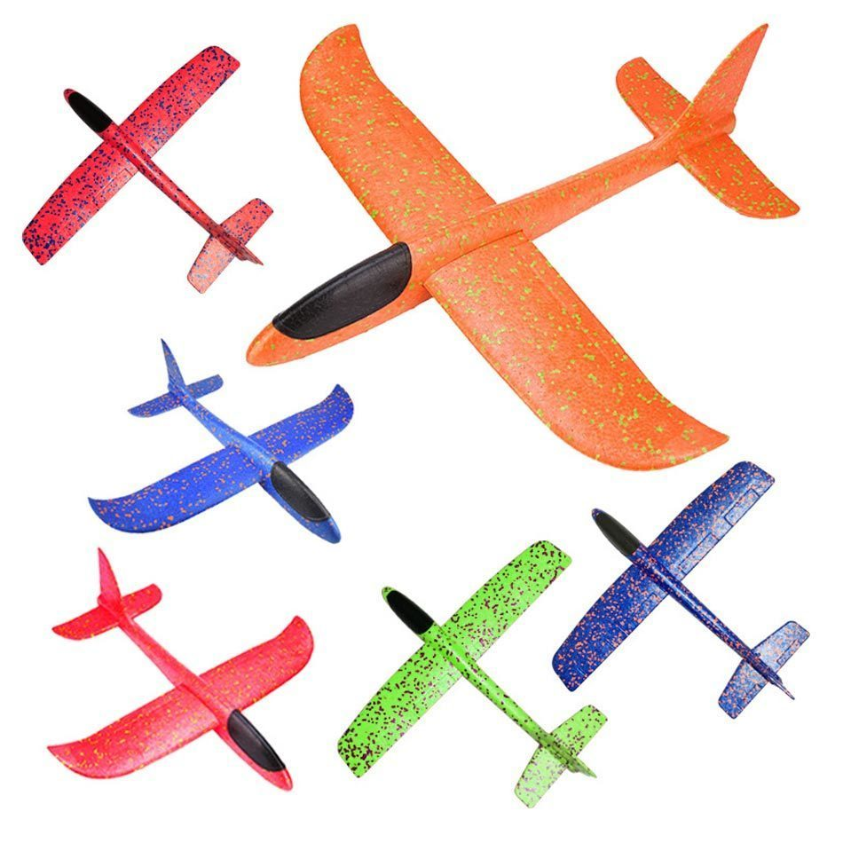 Hand Launch Throwing Glider Aircraft Inertial Foam Eva Airplane Toy Plane Model Outdoor Fun Sports Plane Model Interesting Toys image