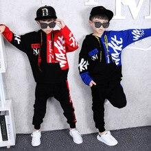 Otoño de 2018 de los niños de la moda Hip Hop RAP Hip Hop internacional  conjunto de ropa de niños de algodón de manga larga cart. 7f5c7a0cd33
