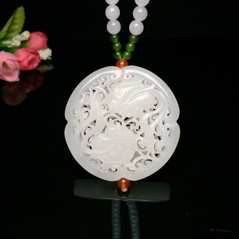2019 Popsocket Druzy Limited nouveau Chakra Reiki pendentif naturel Zhou Yu Ya Xuan creux sculpté poisson hétien chaque année collier
