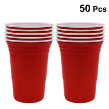 50pcs/Set 450ml Disposable Plastic Cups Portable Tableware Party Supplies For Bar Game Restaurant Cafe Shop(China)
