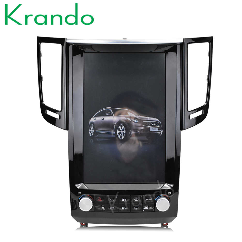 "Krando Android 6.0 12.1"" Tesla Vertical car audio radio player GPS for Infiniti QX70 FX25 FX35 FX37 navigation multimedia system"