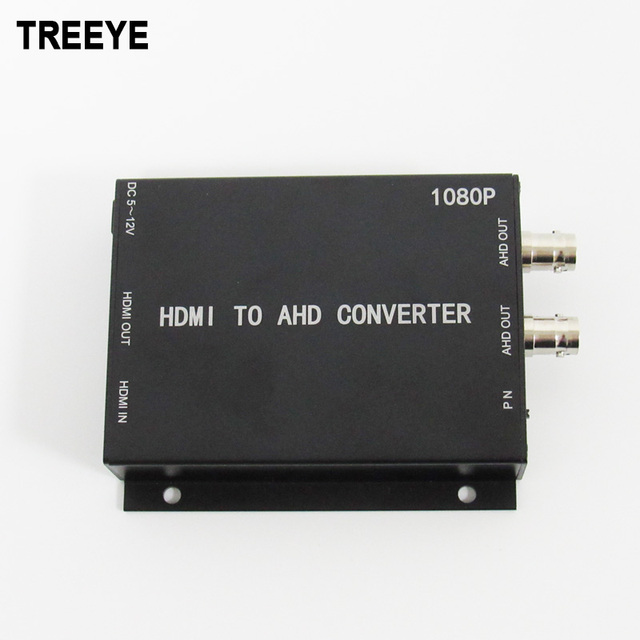 TREEYE HDMI to AHD converter 1080P 2.0megapixel HDMI loop output Industrial high definition video convertor