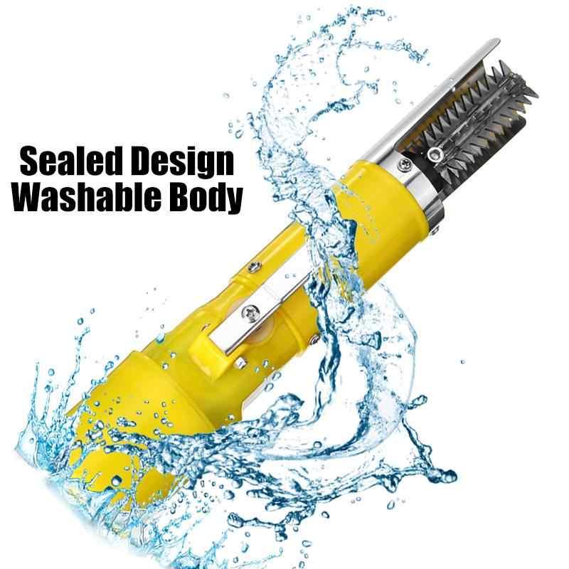 2200 mAh Universale 6 Lati Lama Elettrico Scaler Pesce Pesca Scaler Pulito Pesce Remover Cleaner Disincrostatore Impermeabile Raschietto Strumento