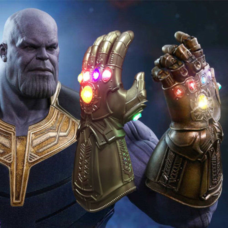 Aldut/Child 2 Size LED Light Thanos Infinity Gauntlet Avengers 4 Infinity War LED Light Thanos Gloves Cosplay Props Avengers 3