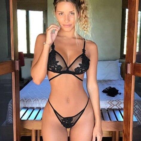 CWXANS sexy lace   bra     set   lace transparent push up women lingerie bralette seamless panties wire free thin underwear lenceria