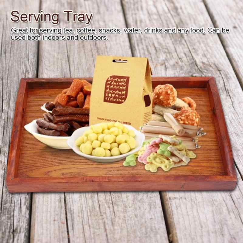 Kayu Melayani Nampan Teh Nampan Kelontong Square Kayu Buah Hotel Restoran Penyimpanan Kotak Makan Malam Piring Makanan Ringan Baru