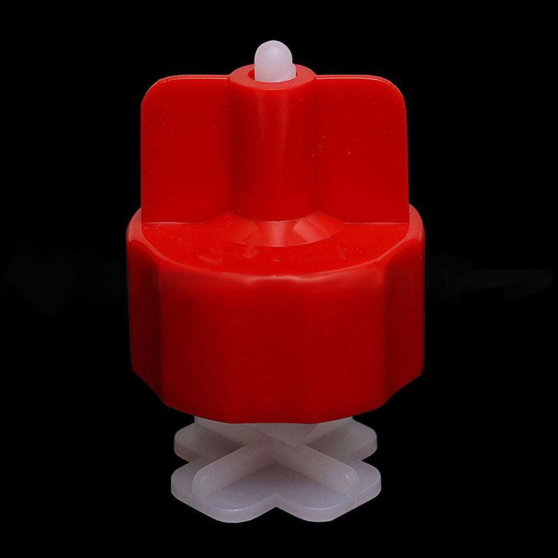 100Pcs Tile Flat Leveling Tiling System Wall Floor Spacers Strap Caps Tools