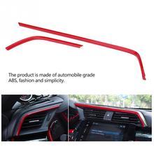 2 шт. красный ABS Авто воздушный выход рамка Крышка Накладка для Honda Civic 10th автомобильные аксессуары интерьер