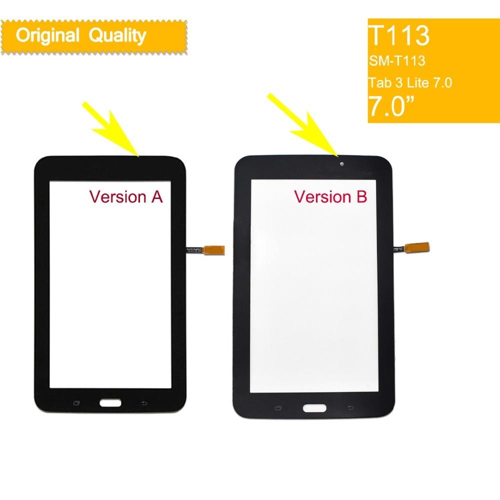 10 шт./лот для Samsung Galaxy TAB 3 LITE 7,0 SM-T113 T113 T113NU T114 сенсорный экран дигитайзер стекло передней сенсорной панели сенсорный экран