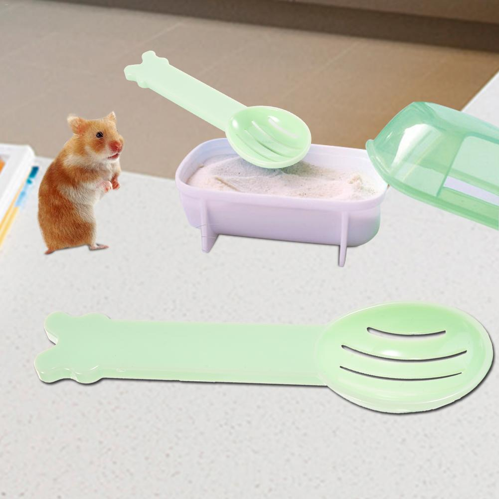 Hamster Dedicated Clean Sand Spoon For Small Pet Squirrel Guinea Pig Chinchilla Rabbit Random Color Shovel Sand Cleaning Spoon