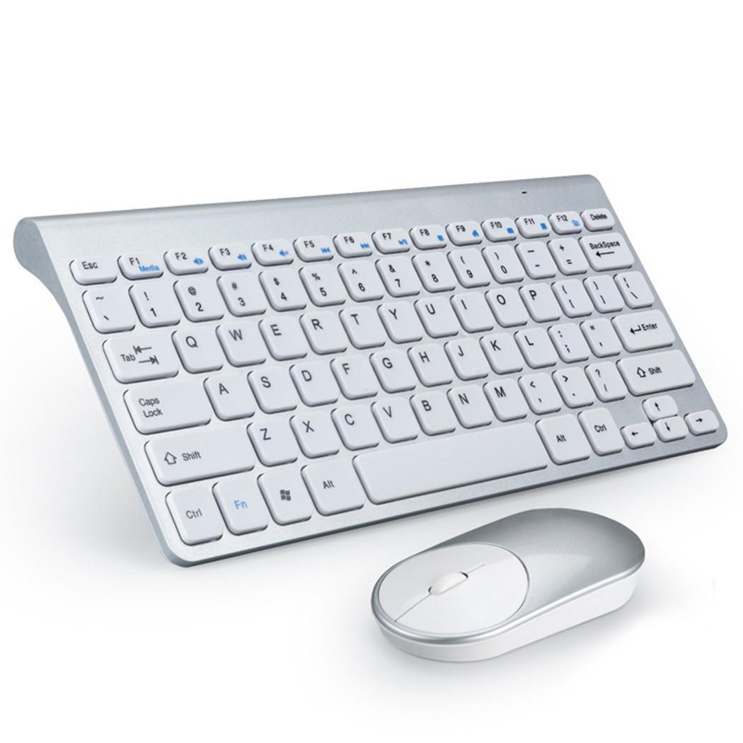 Mini USB Wireless Keyboard Mouse Set Stylish design with distinctive look. White For PC Computer Home Office