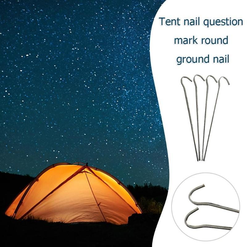 Caming Accessories Aluminum Tent Pegs 7-shaped Tents Stake Outdoor Nails
