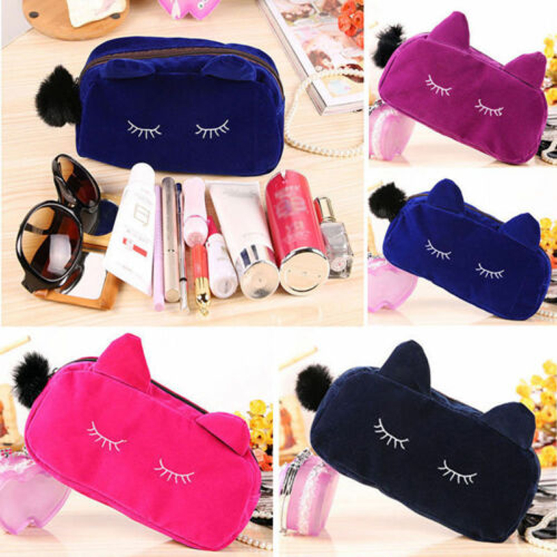 Organizer Zipper Pouch Handbag Makeup-Bag Toiletry-Case Cosmetic Beauty Brand Travel
