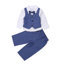 CANIS Toddler Child Baby Boy Kids Wedding Formal Suit Gentleman Bowtie+Tops+Pants Leggings Outfits Clothes Boys Clothing New(China)