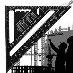 Image 2 - 12Inch Speed Vierkante Metrische Aluminium Driehoek Heerser Pleinen Voor Meetinstrument Metrische Hoek Gradenboog Houtbewerking Gereedschap
