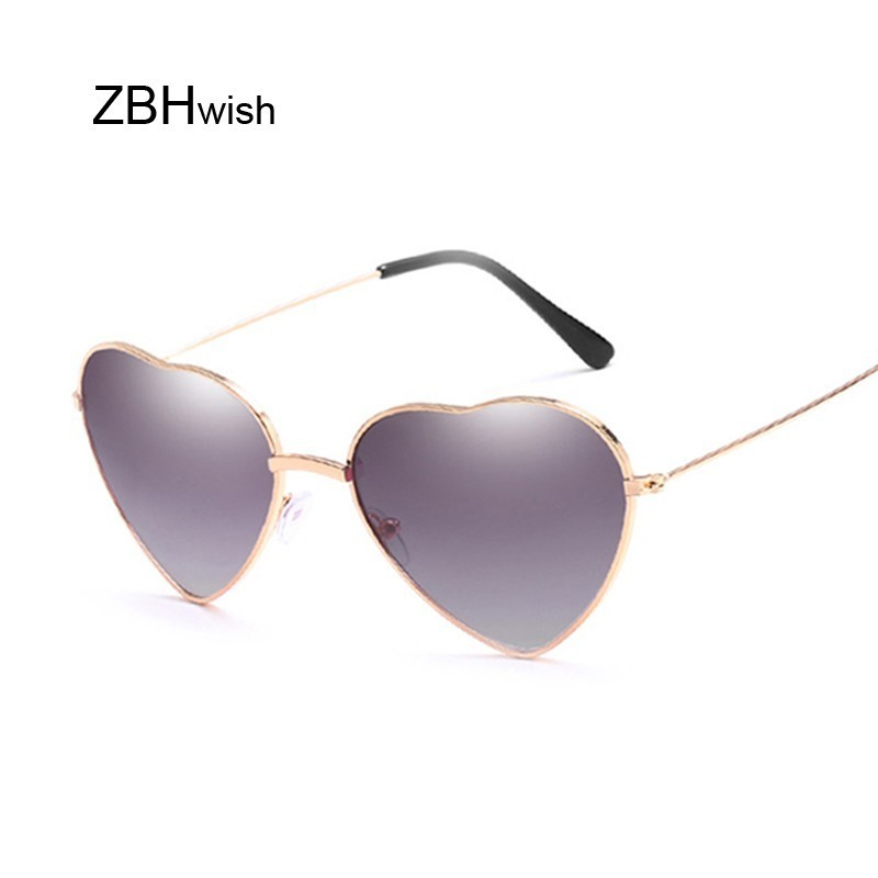 Retro Cat Eye Heart Sunglasses Women Metal Frame Mirror UV400 Sun Glasses Female Brand Designer Vintage Lunette De Soleil Femme
