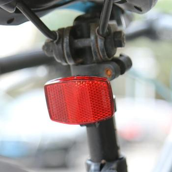 Bicycle Front Rear Plsatic Reflective Lens MTB Road Bike Reflectors Night Riding Safe Warning Rear Lights image