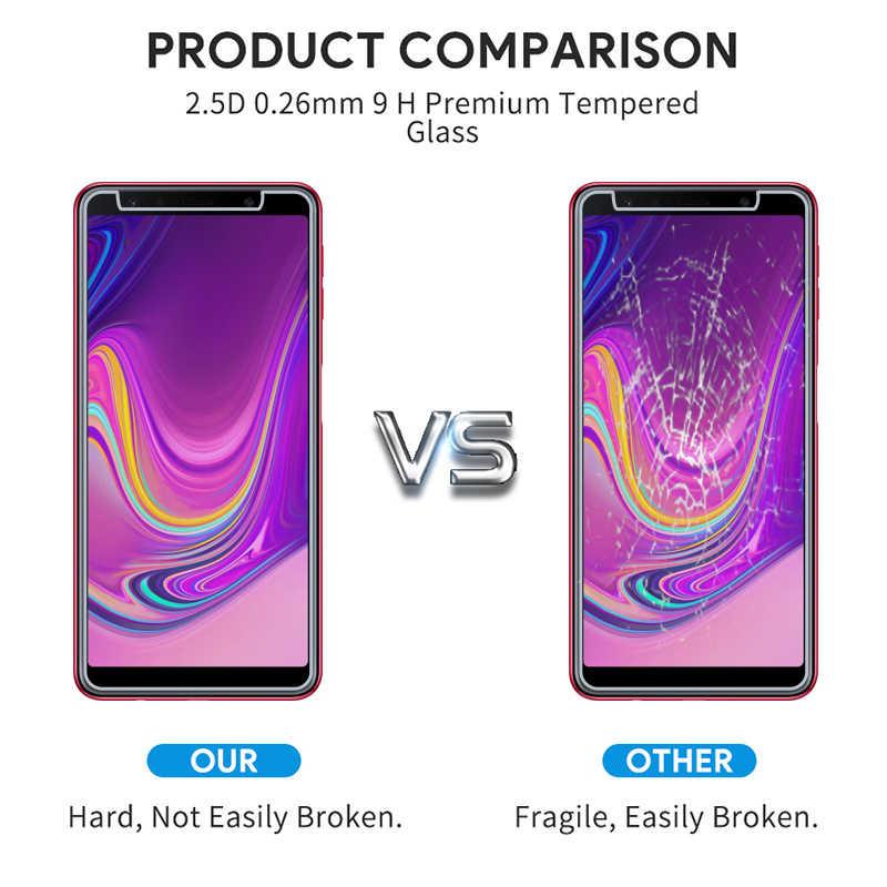ليس كامل خفف زجاج عليه طبقة غشاء رقيقة لسامسونج A6plus 2018 واقي للشاشة 9H 2.5D 0.26 مللي متر ل A3 A5 A7 A8 A6 2018 خدش الزجاج