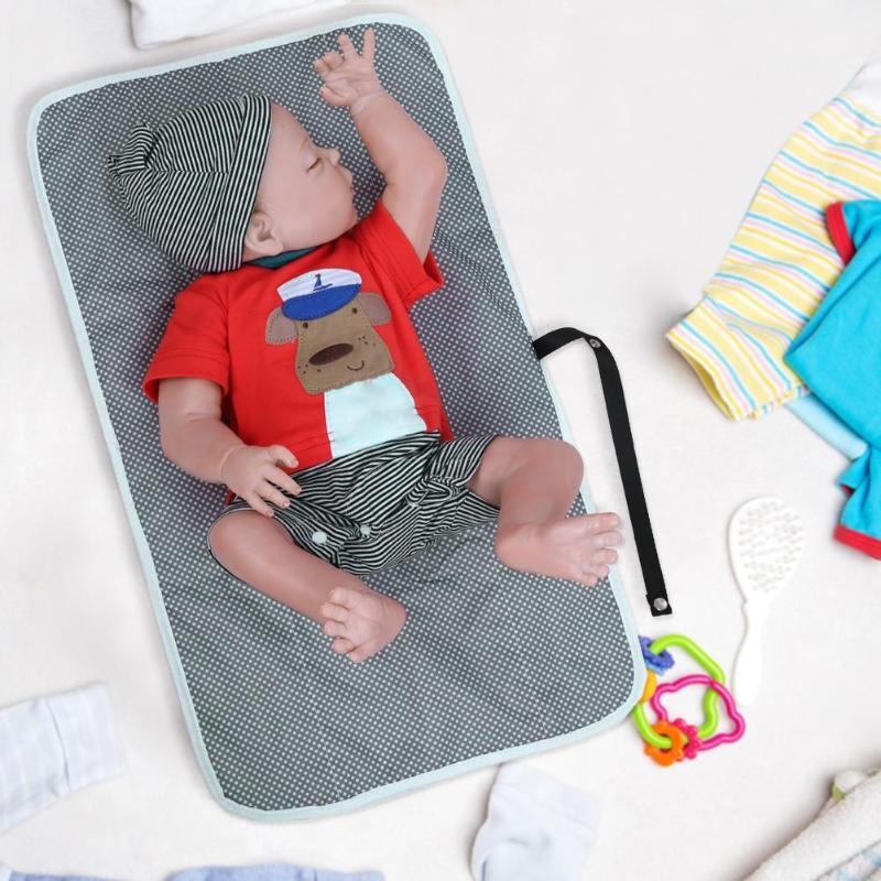 Doux bébé changement de couche coton écologique imperméable à l'eau impression pad tapis couche lavable poches bébé produit
