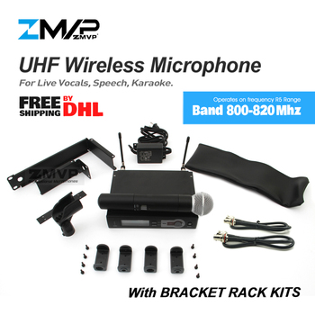 ZMVP UHF Professional SLX24 M58 Wireless Microphone Cordless SLX Karaoke System With 58 Handheld Transmitter Band R5 800-820Mhz