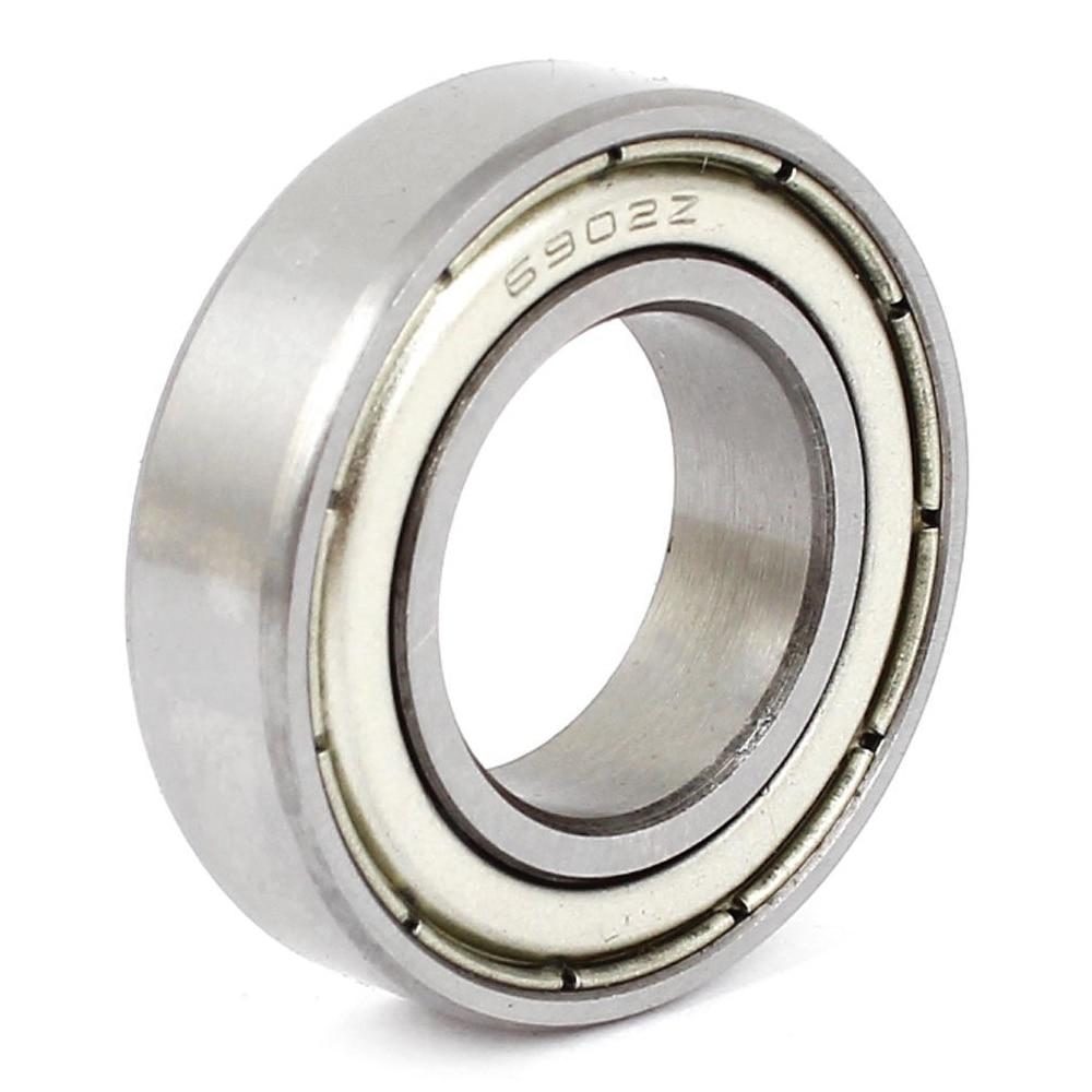 6902Z 15 X 28 X 7mm Metal Shielded Miniature Deep Groove Radial Ball Bearing